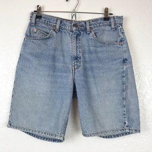 Levi Vintage Orange Tab Jean Shorts Size Waist 32